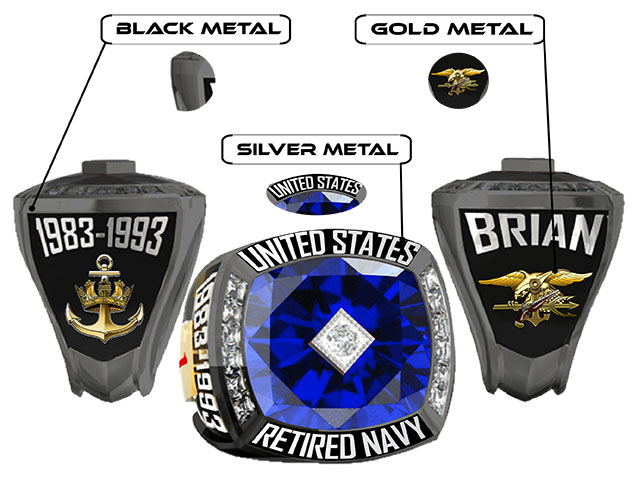 US NAVY BLACK RING